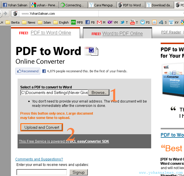 Mengubah File Berformat PDF ke Format File Ms. Word