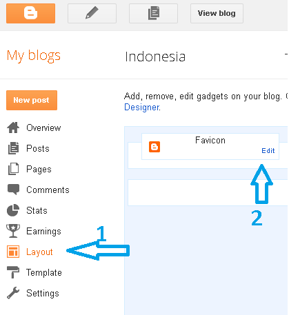 Mengganti Icon Blogger
